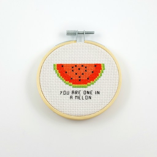 you are one in a melon cross stitch pdf pattern