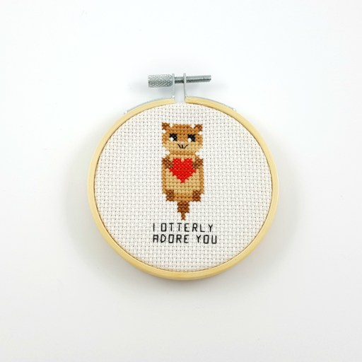 I otterly adore you cross stitch pdf pattern