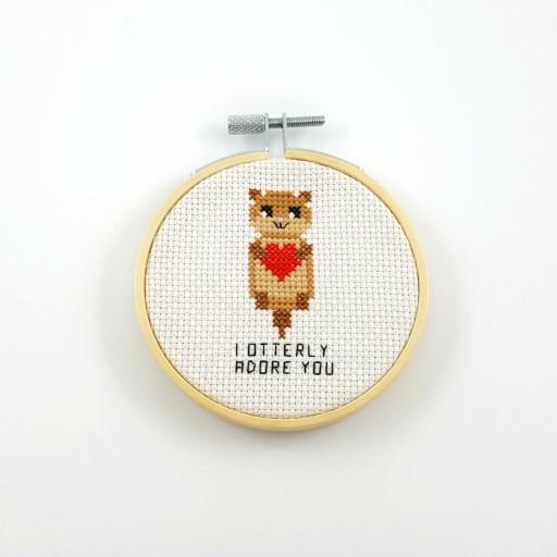 I otterly adore you cross stitch pdf pattern