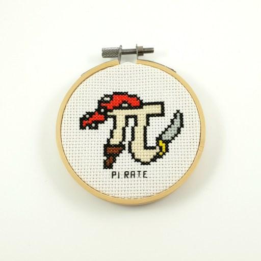 Pi rate cross stitch pdf pattern