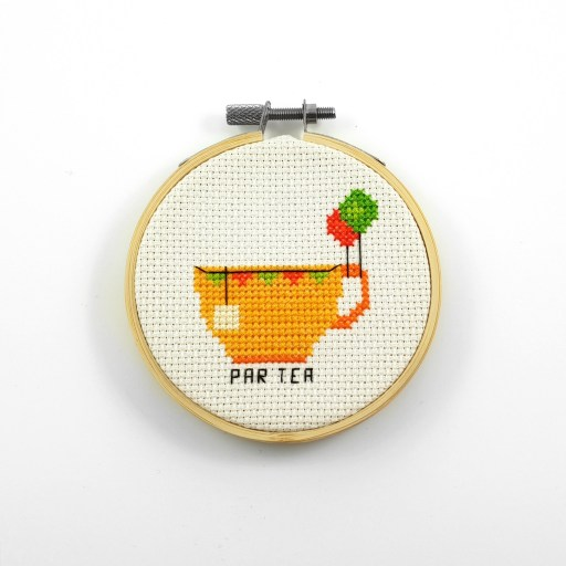 Par tea cross stitch pdf pattern