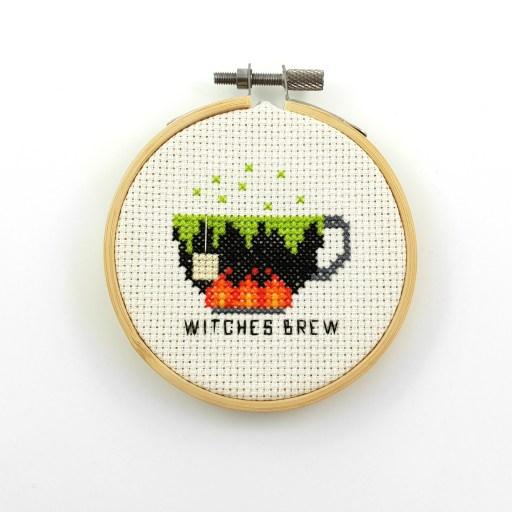 Witches brew cross stitch pdf pattern