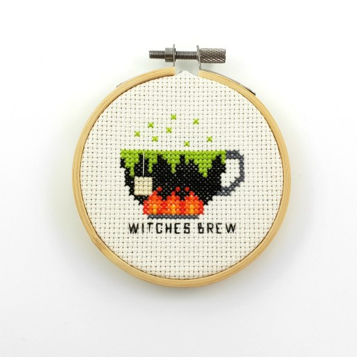 Witches brew cross stitch pdf pattern