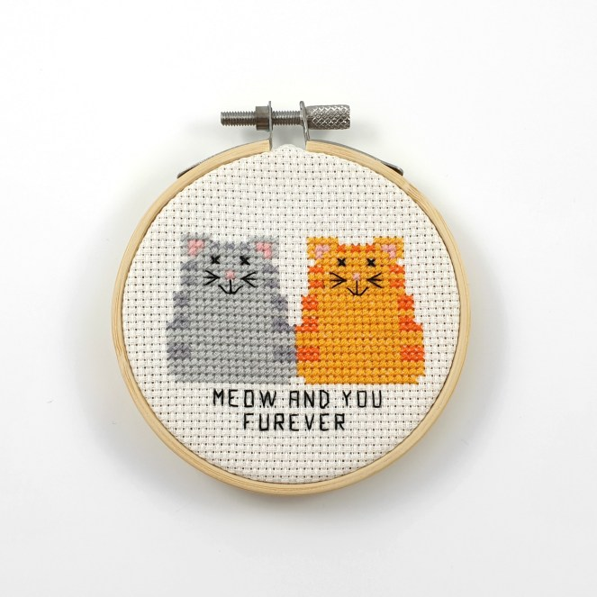 meow and you furever cross stitch pdf pattern