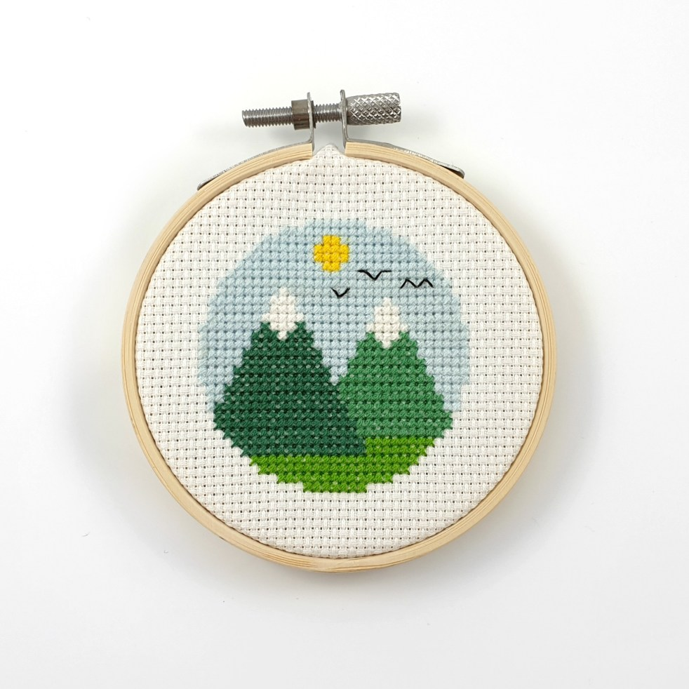 mountains cross stitch pfd pattern