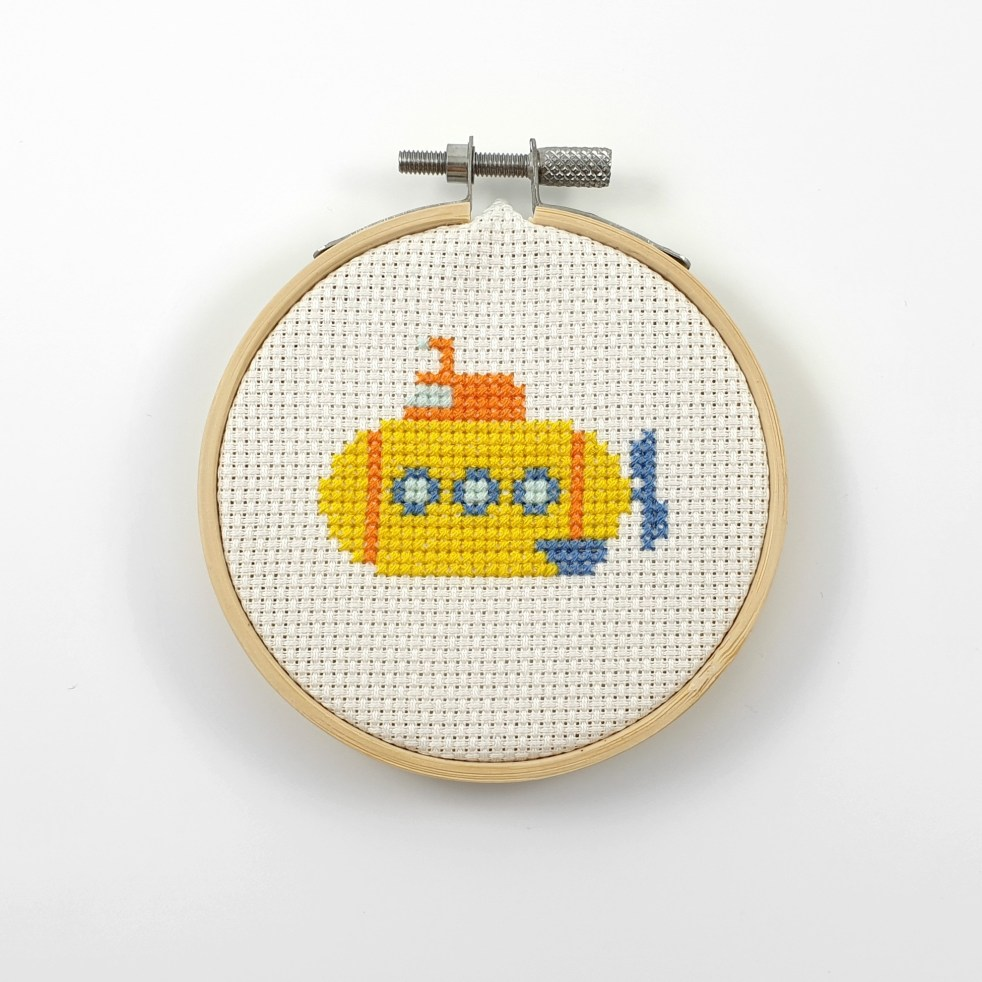 yellow submarine cross stitch pdf pattern