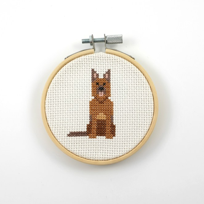 German Shepherd cross stitch pdf pattern