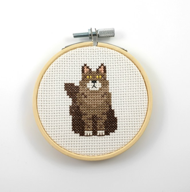 Maine Coon cross stitch pdf pattern