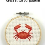 Crab cross stitch pdf pattern
