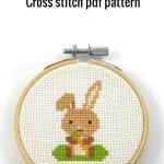 bunny cross stitch pdf pattern