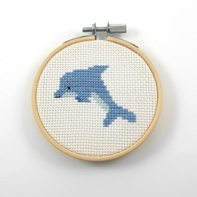 Dolphin cross stitch pdf pattern