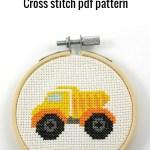 dump truck cross stitch pdf pattern