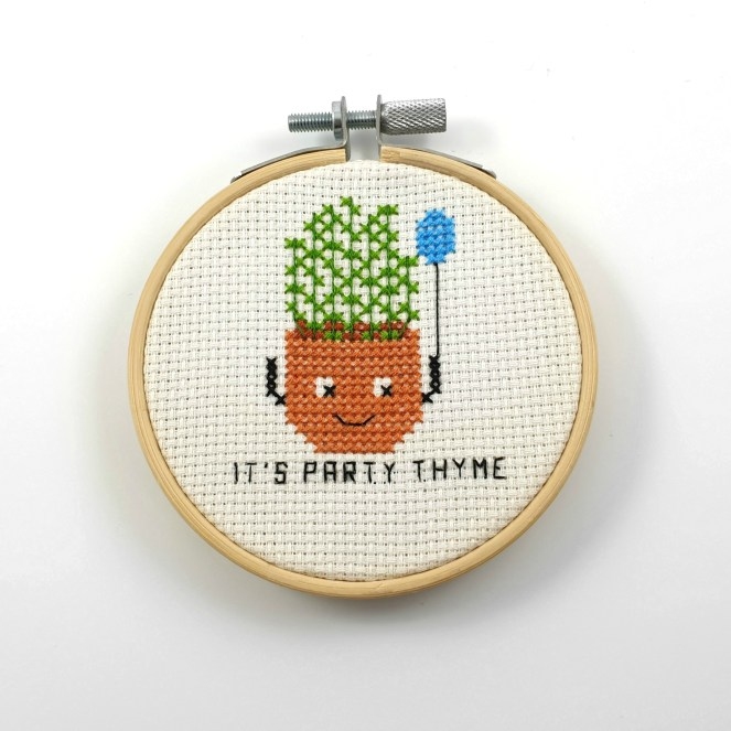 It is a party thyme cross stitch pdf pattern