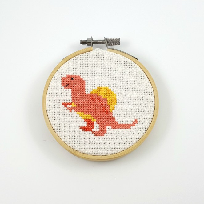 Spinosaurus cross stitch pdf pattern