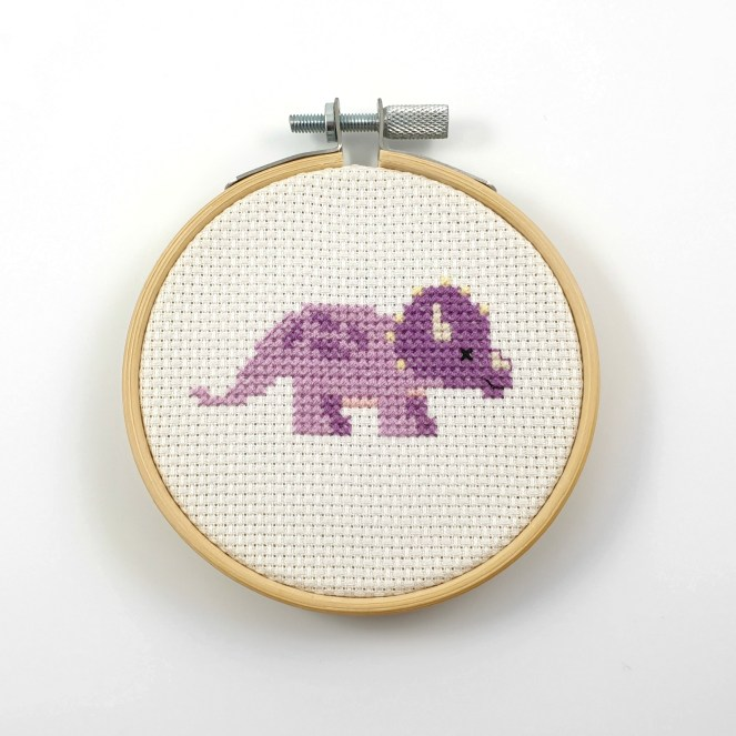 Triceratops cross stitch pdf pattern