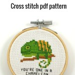 You're one in a chameleon cross stitch pdf pattern