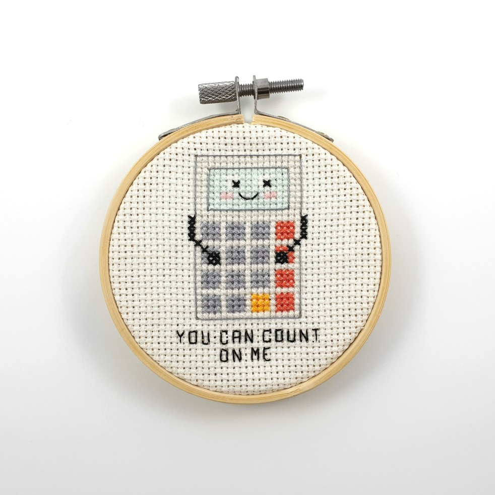 You can count on me cross stitch pdf pattern