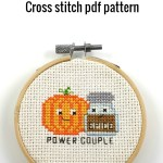 Power couple cross stitch pdf pattern