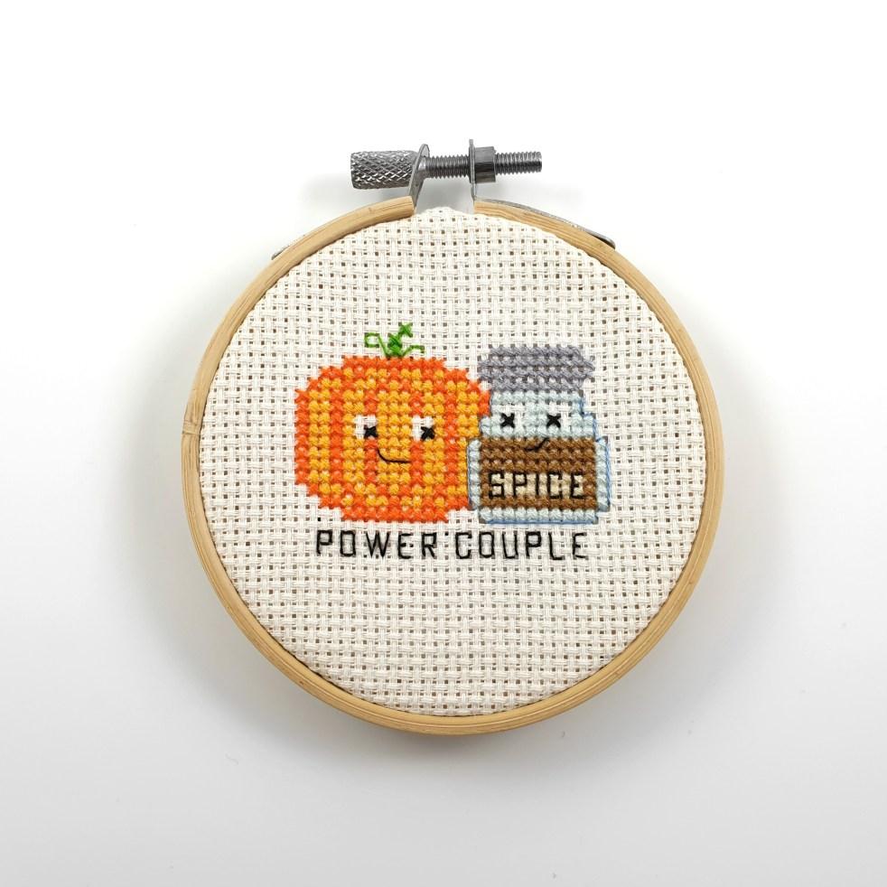 Power couple cross stitch pdf pattern