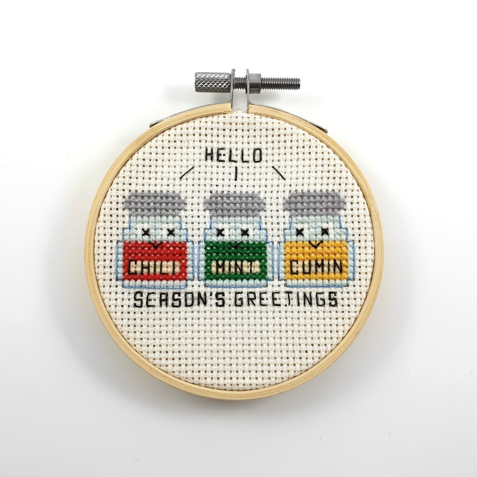 Season's greetings cross stitch pdf pattern