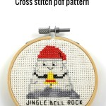 jingle bell rock cross stitch pdf pattern