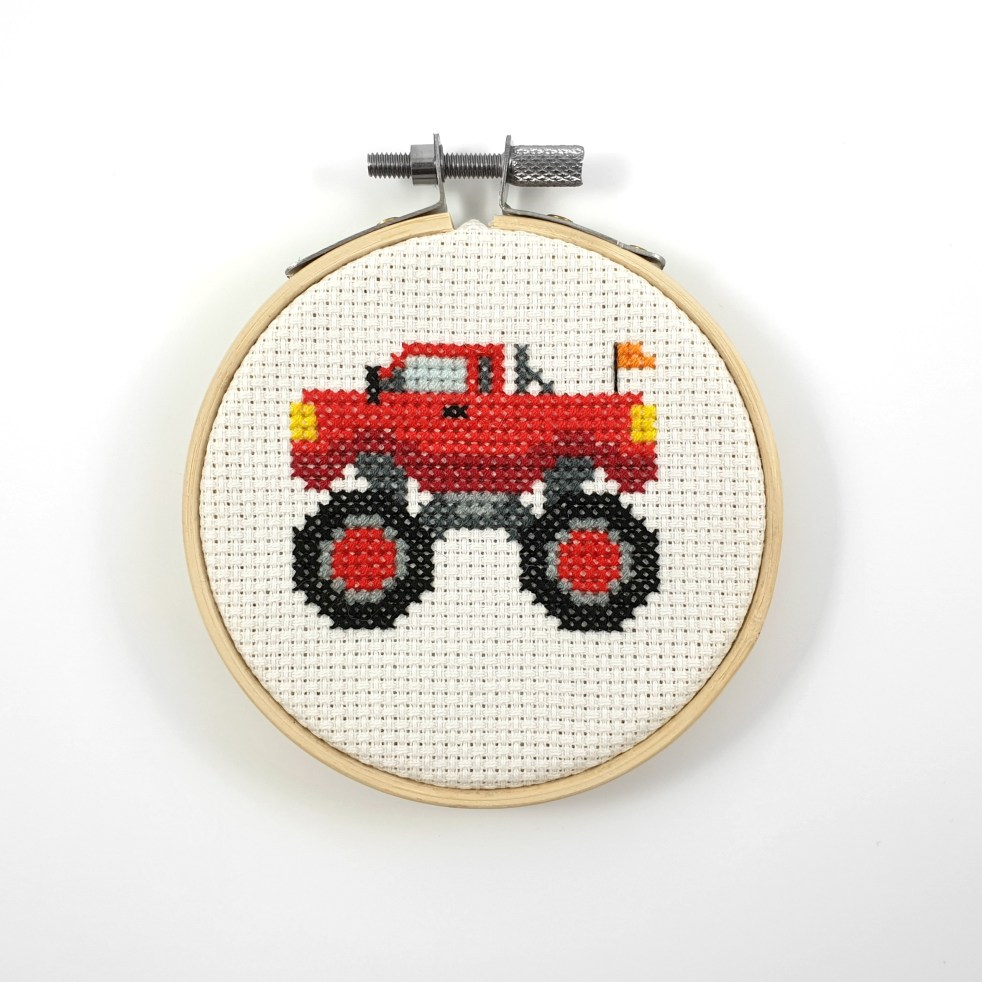 Monster truck cross stitch pdf pattern