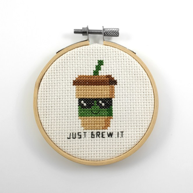 just brew it cross stitch pdf pattern