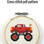 Monster truck cross stitch pdf pattern