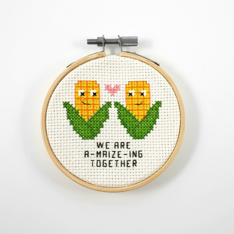 we are a-maize-ing together cross stitch pdf pattern