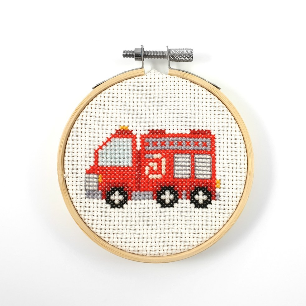 fire truck cross stitch pdf pattern