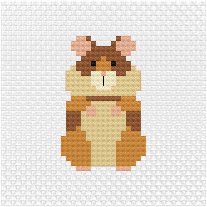 Hamster cross stitch pdf pattern