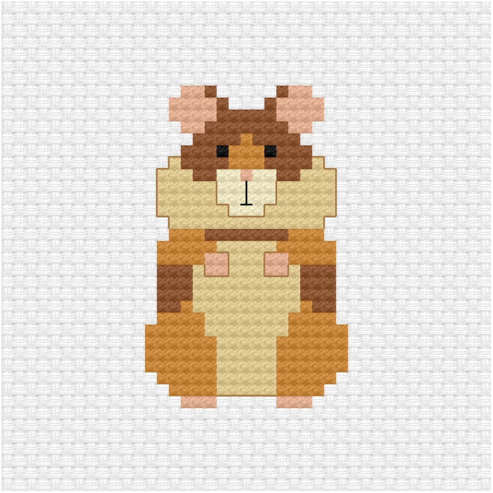 Hamster cross stitch pdf pattern