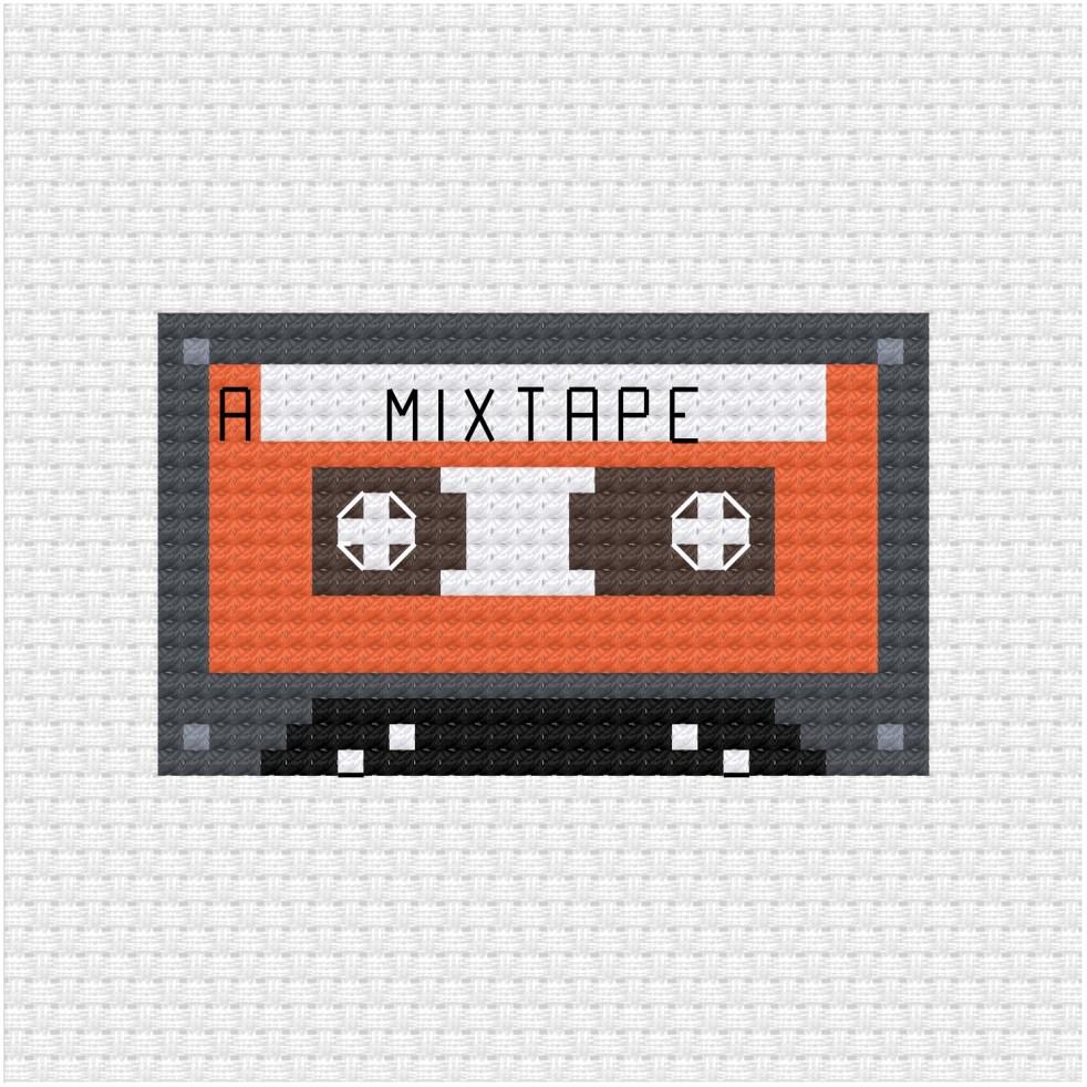 mixtape cross stitch pdf pattern