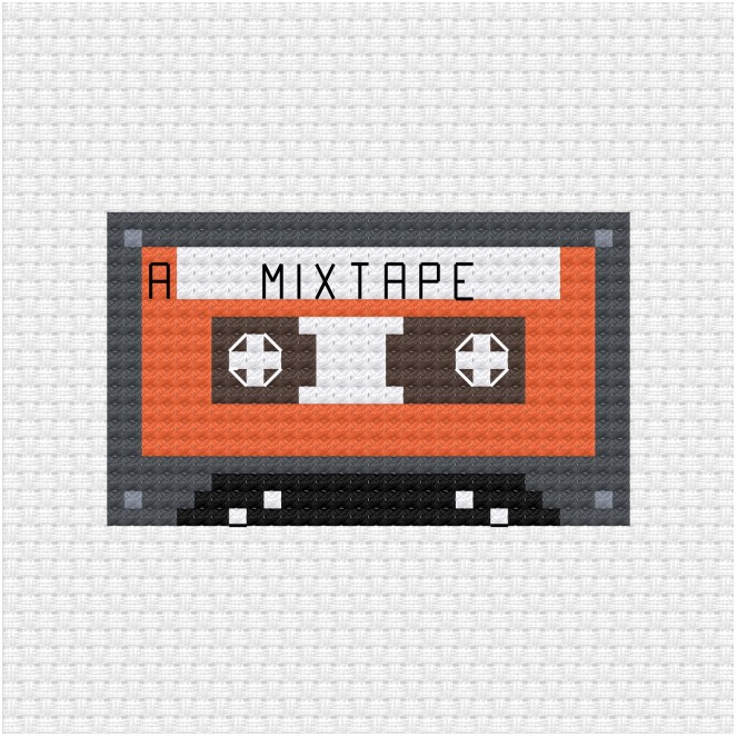 mixtape cross stitch pdf pattern
