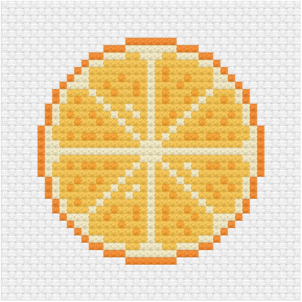 Orange cross stitch pdf pattern