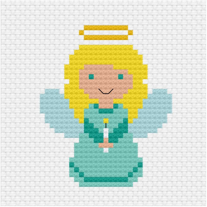 Christmas angel cross stitch pdf pattern