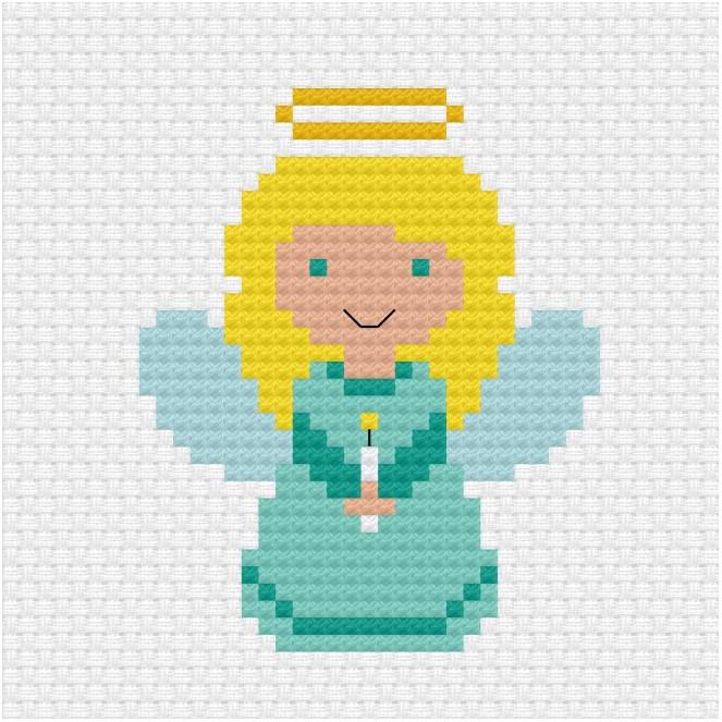 Christmas angel cross stitch pdf pattern