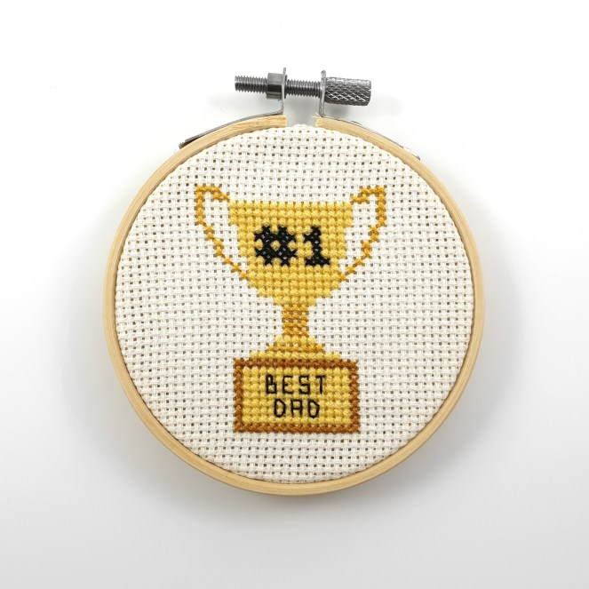 Best dad trophy cross stitch pdf  pattern