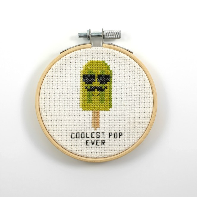 Coolest pop ever cross stitch pdf pattern