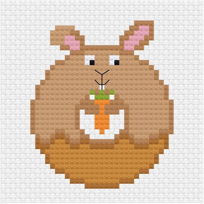 Donut bunny cross stitch pdf pattern