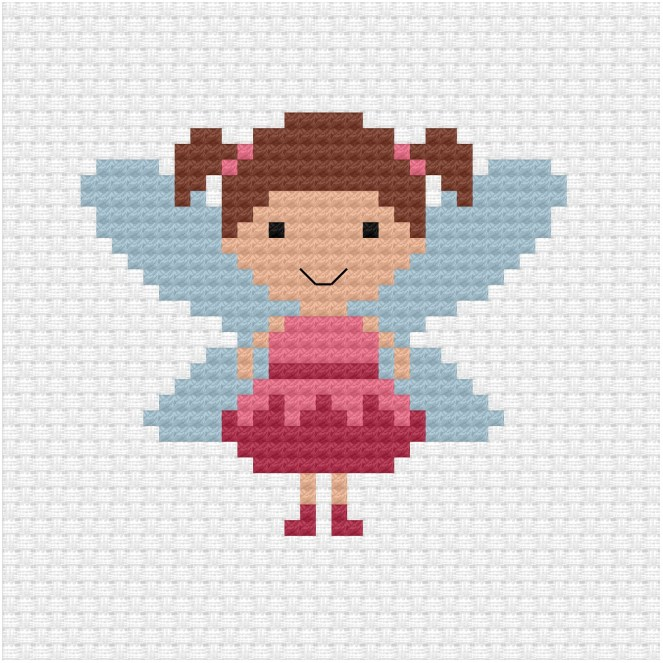 Fairy cross stitch pdf pattern - Ringcat