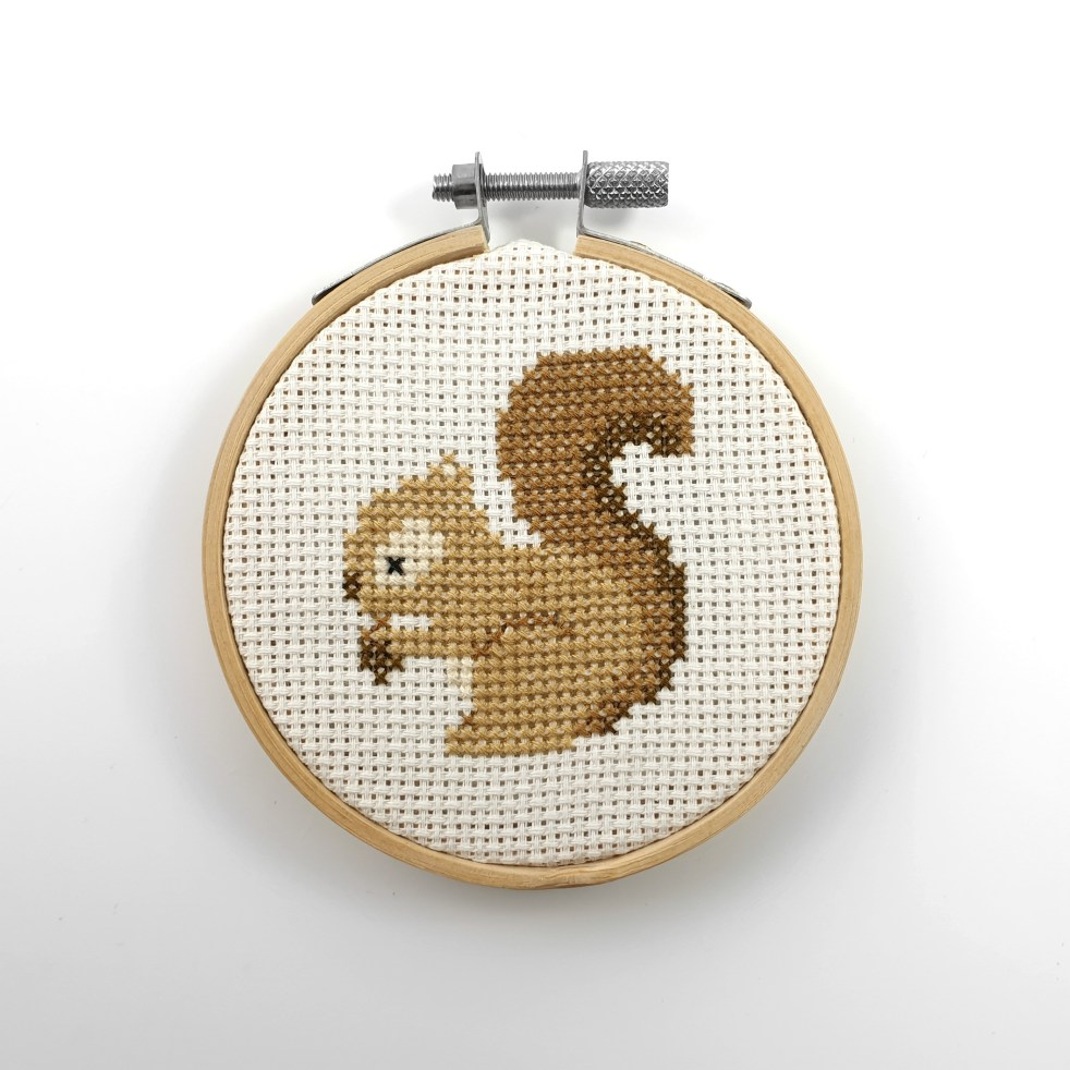Squirrel cross stitch pdf pattern