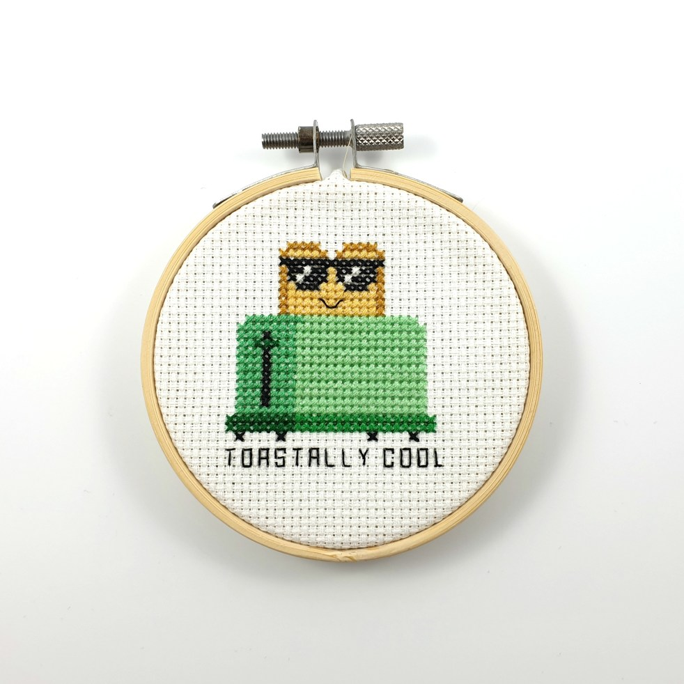 Toastally cool cross stitch pdf pattern