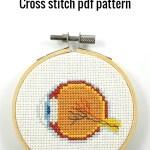 Anatomical eye cross stitch pdf pattern