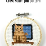 Living room cat cross stitch pdf pattern