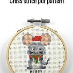 Merry christmouse cross stitch pdf pattern