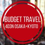 Budget Travel Japan: 4D3N Japan for RM2500 (Osaka+Kyoto)