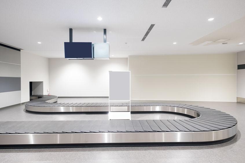 empty baggage belt