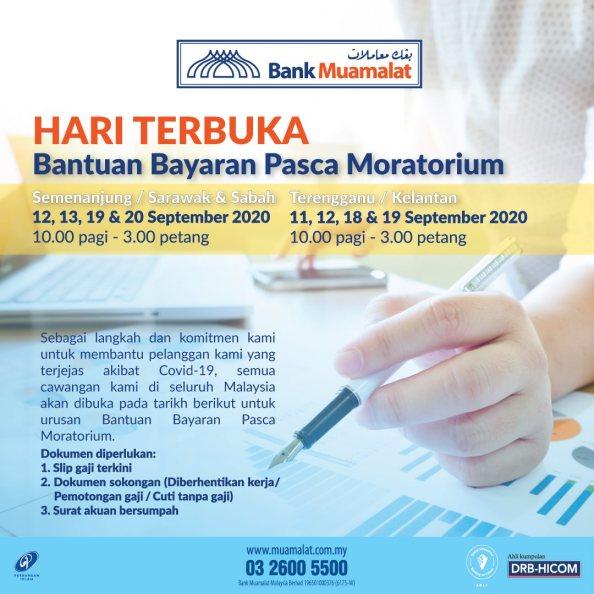 bank muamalat post-moratorium open days