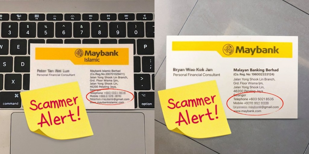 Maybank Warns Of Scammers Impersonating Maybank Officials With Fake Business Cards